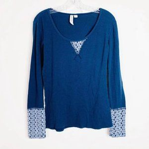 Others Follow Canyon Thermal Henley Top Sz…
